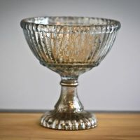 Small Mercury Glass Pedestal Bowl